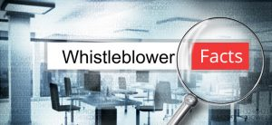 reading word whistleblower office magnifying glass 3d illustration